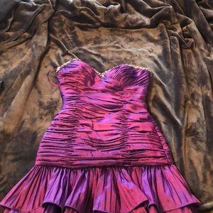 Purple satin evening / homecoming dress